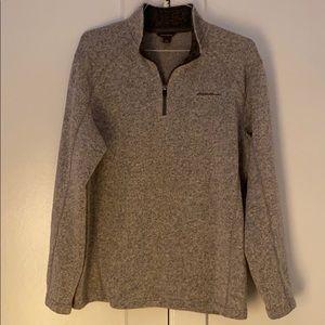 Eddie Bauer Men's Gray 1/4 Zip Fleece Pullover - L